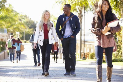 Students walking on campus On University Campus