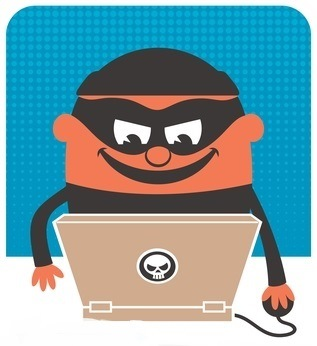 illustration of online crook