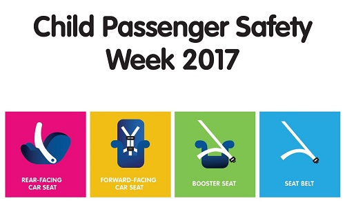 illustration of child car safety seats for child safety passenger week