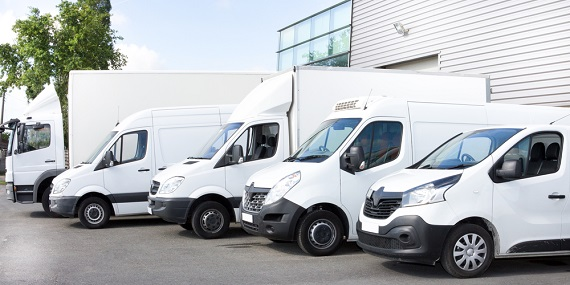 delivery trucks and vans