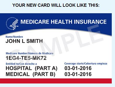 picture of new Medicare card