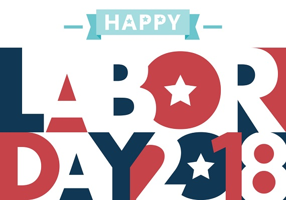Happy Labor Day 2018 banner