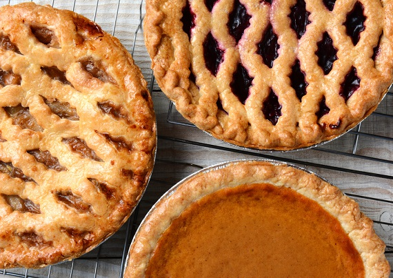 Thanksgiving Pies on Cooling Racks