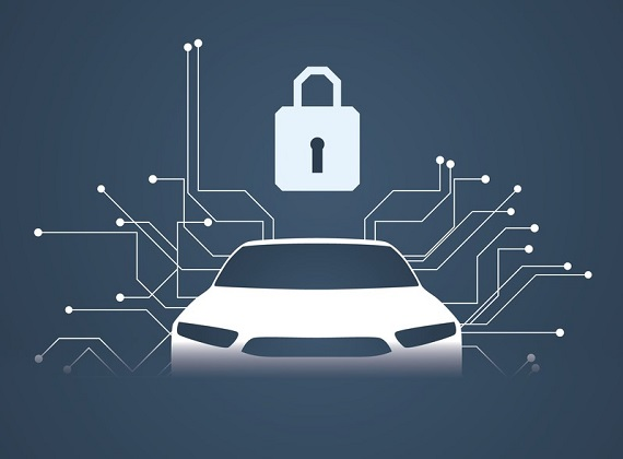 illustration of vehicle cybersecurity