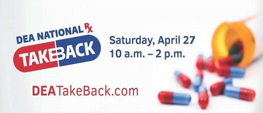 Prescription Drug Takeback Day Banner