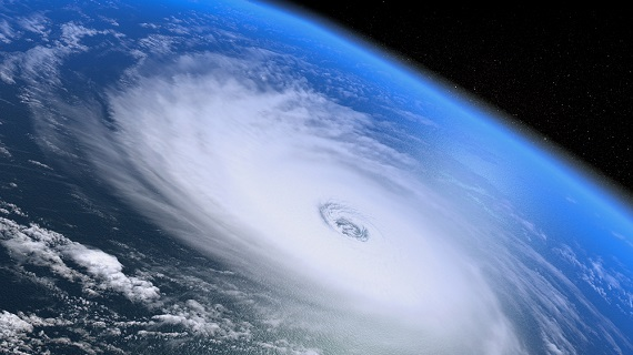 image of a hurricane forming for hurricane emergency prep