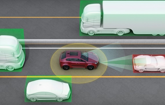 illustration of a driverless car