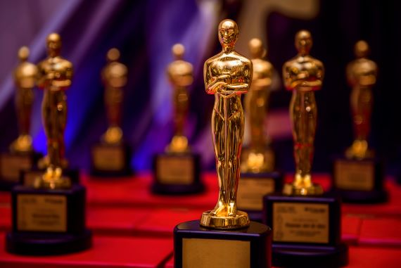 The Oscars award statuettes