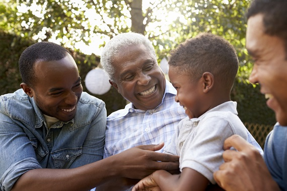 Four generations of black men