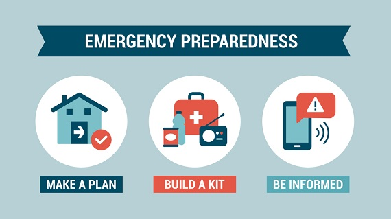 emergency prep - three steps infographic